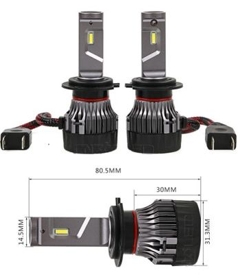 Velikost LED H7 žarnic